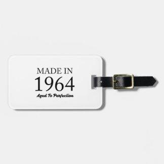 Hecho en 1964 etiqueta para maletas