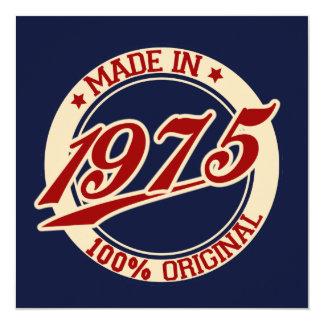 Hecho en 1975 comunicados personalizados