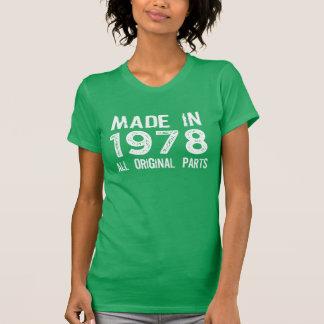 HECHO en 1978 toda la camiseta ORIGINAL de las