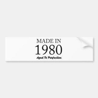 Hecho en 1980 pegatina para coche