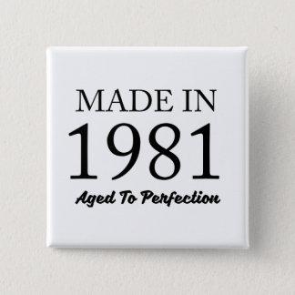 Hecho en 1981 chapa cuadrada