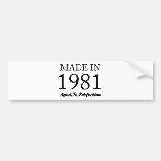 Hecho en 1981 pegatina para coche
