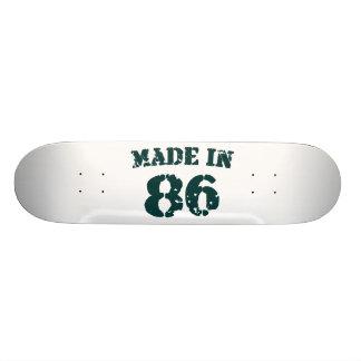 Hecho en 1986 tabla de skate