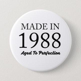 Hecho en 1988 chapa redonda de 7 cm