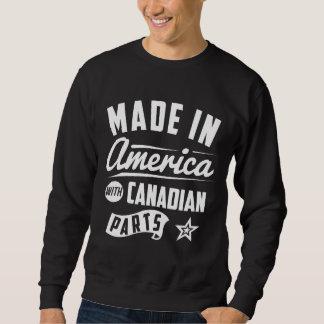 Hecho en América con las piezas canadienses Sudadera