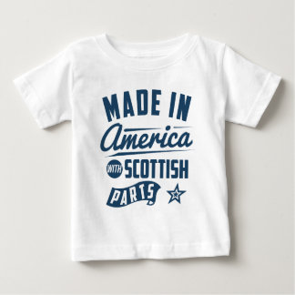 Hecho en América con las piezas escocesas Camiseta De Bebé