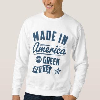 Hecho en América con las piezas griegas Sudadera