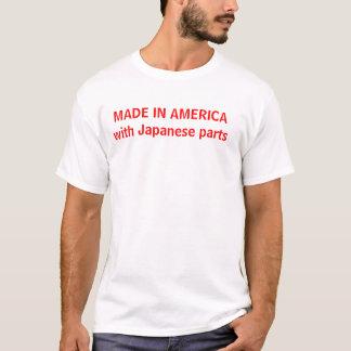 HECHO EN AMÉRICA con las piezas japonesas Camiseta
