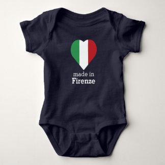 Hecho en bandera Italia-Italia del corazón de Body Para Bebé