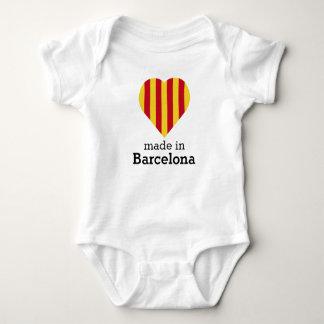 Hecho en Barcelona, bandera Cataluña del corazón Body Para Bebé