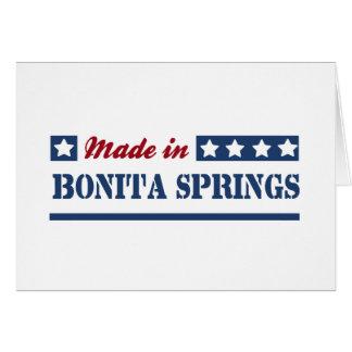 Hecho en Bonita Springs Tarjetón