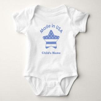 Body Para Bebé Hecho en camiseta de los azules cielos de los