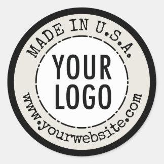 Hecho en el país de etiquetas del producto de los pegatina redonda