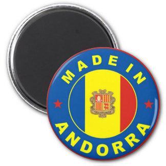 hecho en etiqueta de la bandera de país de Andorra Imanes
