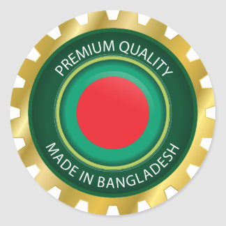 Hecho en la bandera de Bangladesh, sello de