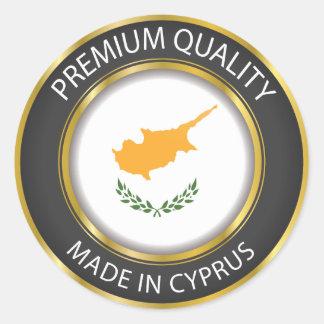 Hecho en la bandera de Chipre, pegatina chipriota