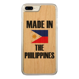 Hecho en la bandera de Filipinas Funda Para iPhone 7 Plus De Carved