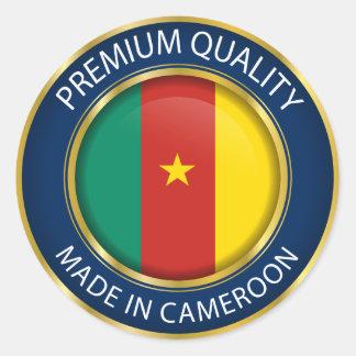 Hecho en la bandera del Camerún, pegatina del