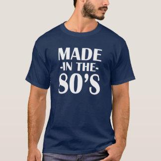 Hecho en la camisa divertida de los años 80 para