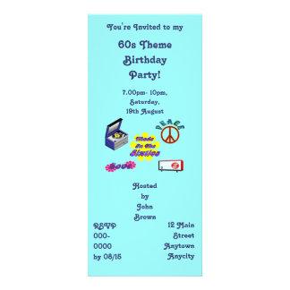 Hecho en la fiesta de cumpleaños de los años 60 invitaciones personalizada