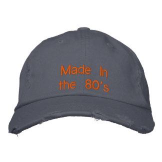 Hecho en los años 80 gorra bordada