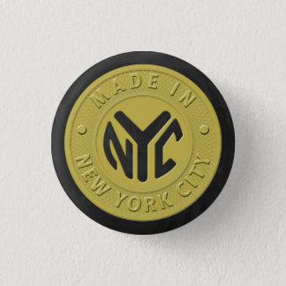 Hecho en Nueva York Chapa Redonda De 2,5 Cm