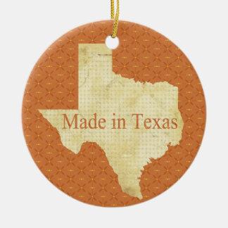 Hecho en ornamento de la foto del navidad del bebé adorno navideño redondo de cerámica