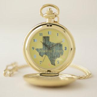 Hecho en reloj de bolsillo de Tejas