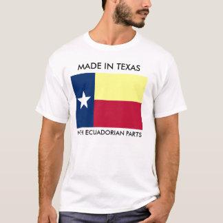 Hecho en Tejas con el Ecuadorian parte la camisa