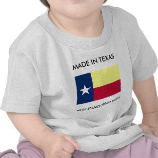 Hecho en Tejas con las piezas del Ecuadorian Camisetas