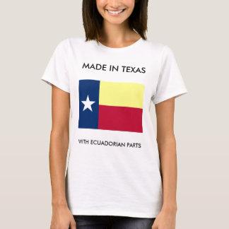 Hecho en Tejas con las piezas del Ecuadorian Camiseta