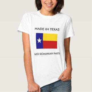 Hecho en Tejas con las piezas rumanas Camisas