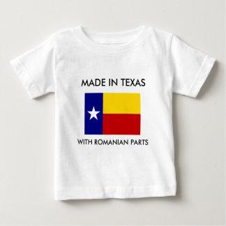 Hecho en Tejas con las piezas rumanas Camiseta Para Bebé