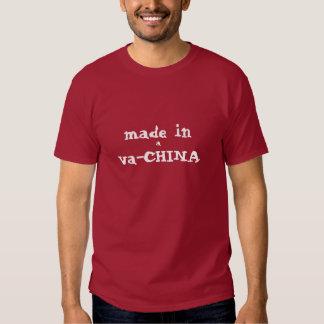 hecho en una va-CHINA Camisetas