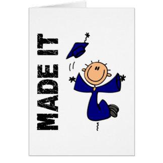 HECHO LE la figura graduación del palillo Felicitacion