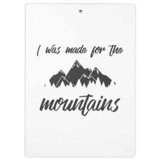 Hecho para el tablero B/W de las montañas