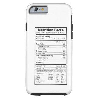 hechos de la nutrición funda para iPhone 6 tough