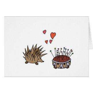 Hedgehog - erizo tarjeta de felicitación
