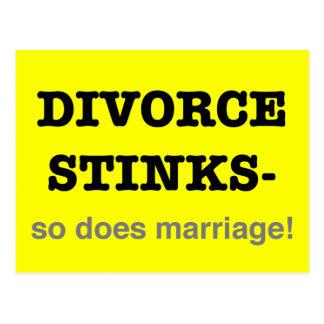 ¡Hedores del divorcio - hace tan boda! Postal