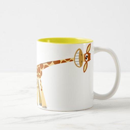 ¡Hee Hee Hee!! Taza de la jirafa del dibujo animad