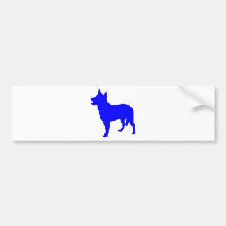 Heeler azul australiano pegatina de parachoque
