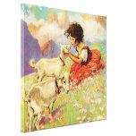 """""""Heidi y sus cabras"""" por Jessie Willcox Smith Impresiones En Lienzo Estiradas"""