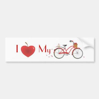 Heitres bicicleta de kirsch pegatina de parachoque
