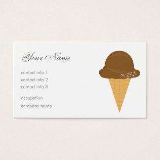 Helado de chocolate tarjeta de negocios