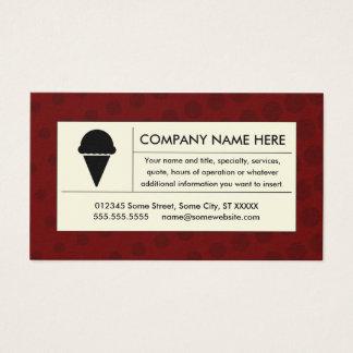 helado de semitono tarjeta de negocios