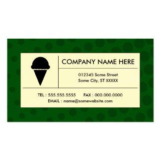 helado de semitono tarjetas de visita