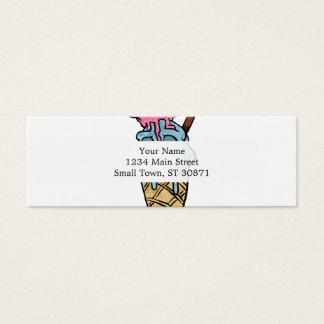 helado del cráneo tarjeta de visita pequeña