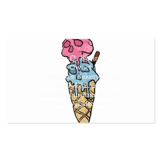 helado del cráneo tarjetas de visita