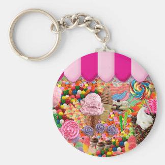 Helado del dulce dieciséis del caramelo divertido llavero redondo tipo chapa