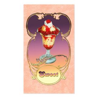Helado del helado de la frambuesa tarjetas de visita